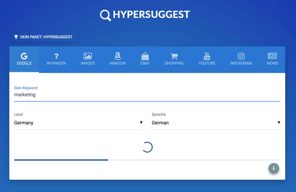 Das Long Tail Keyword Tool HyperSuggest Pro