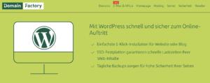 domainfactory WordPress-Hosting