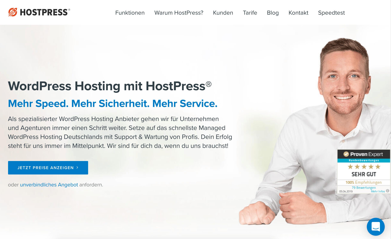 hostpress WordPress-Hosting