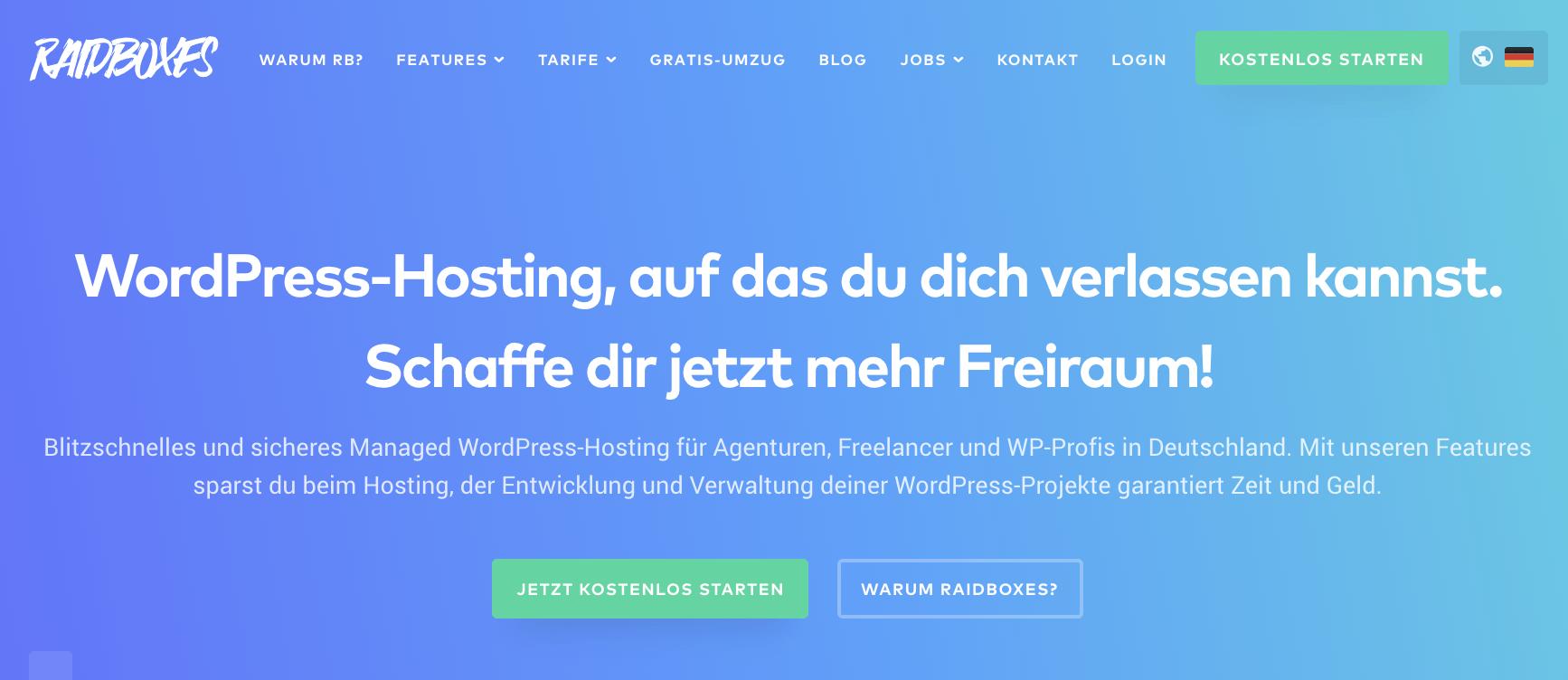 raidboxes managed WordPress-Hosting