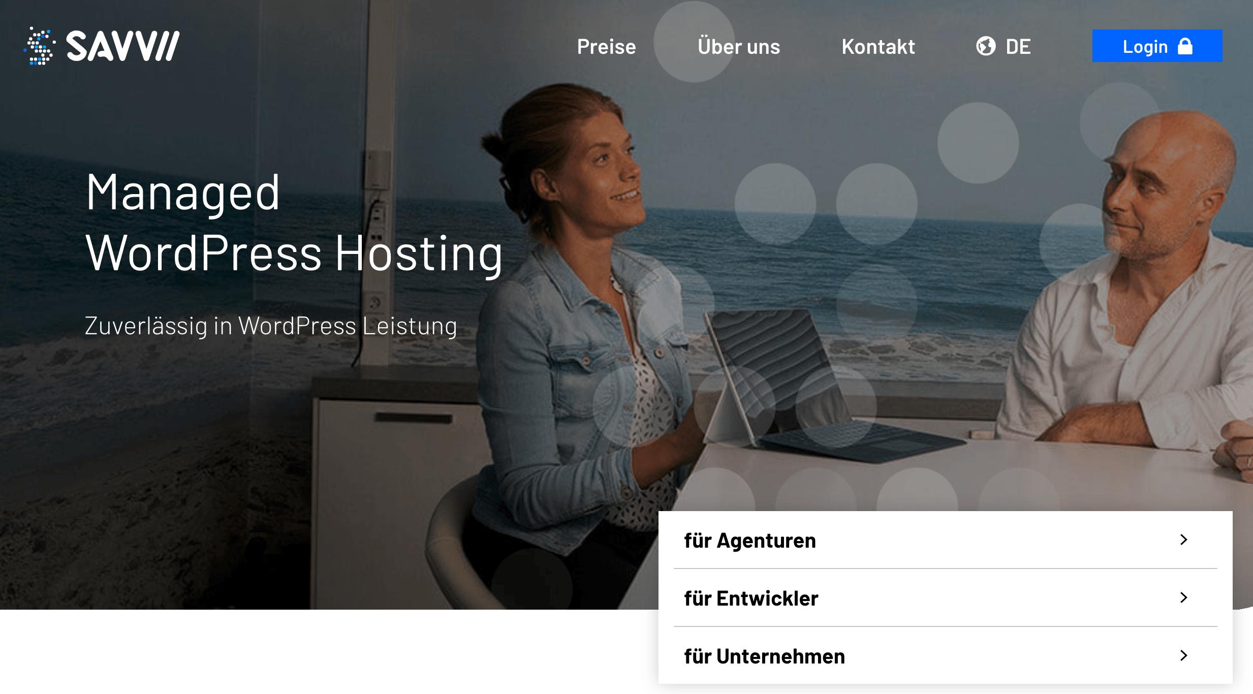 savvii managed WordPress-Hosting