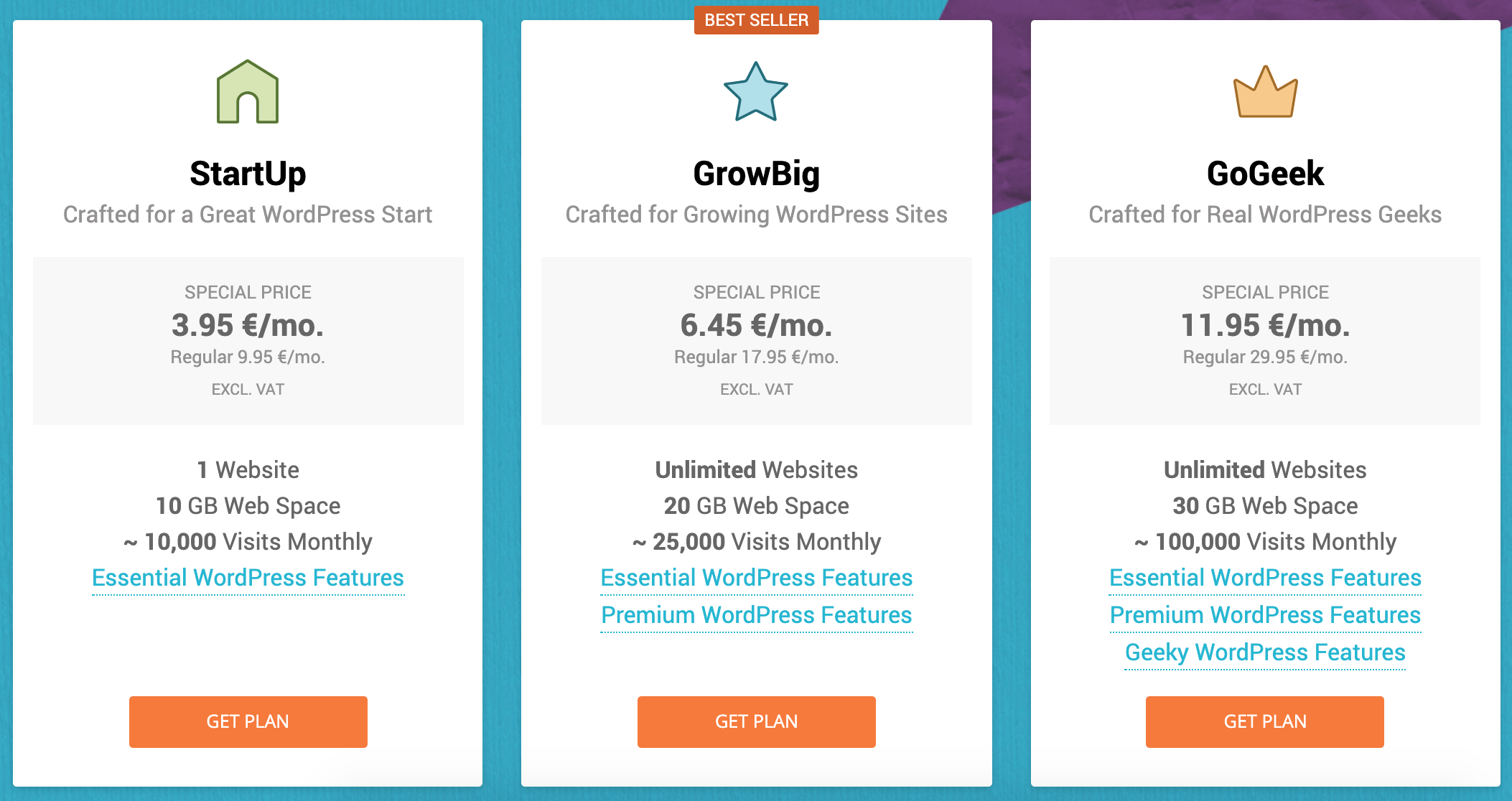 siteground-managed wordpress hosting tarife