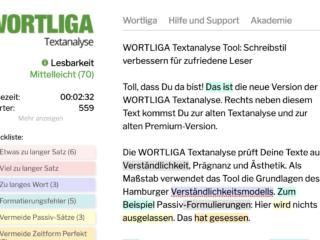 wortliga textanalyse Bessere Lesbarkeit im Netz mit dem Text-Analyse-Tool
