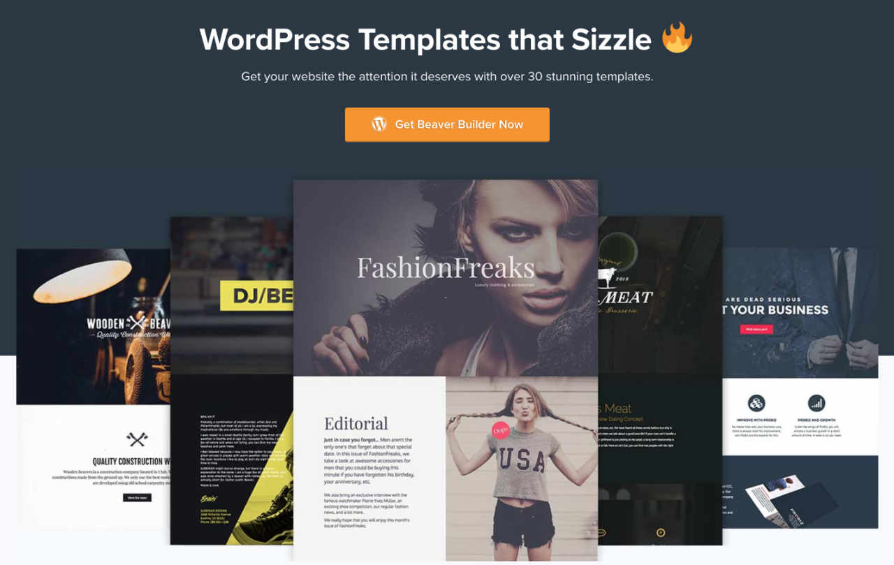 WordPress Templates that Sizzle