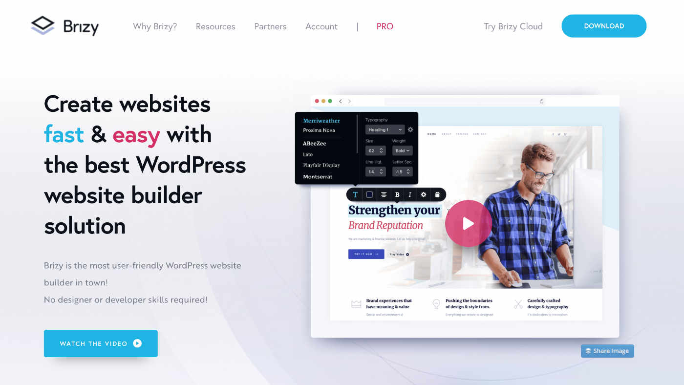 Brizy - Create websites fast & easy