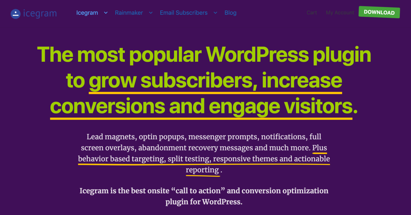 icegram - The most popular WordPress plugin to grow subscribers, increase conversions and engage visitors.