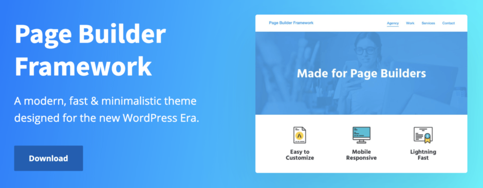 A modern, fast & minimalistic theme designed for the new WordPress Era.
