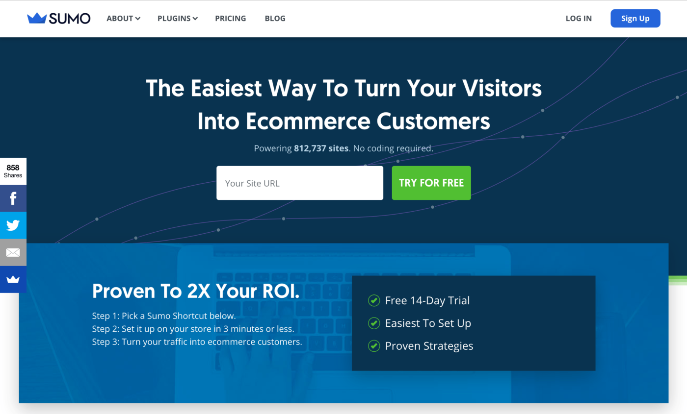 Sumo The Easiest Way To Turn Your Visitors Into Ecommerce Customers