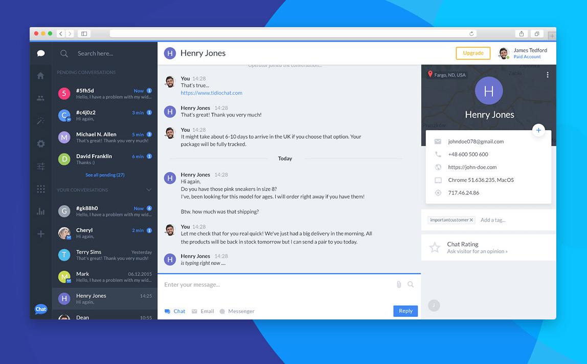 tidio Die besten Live-Chat-Plugins für WordPress