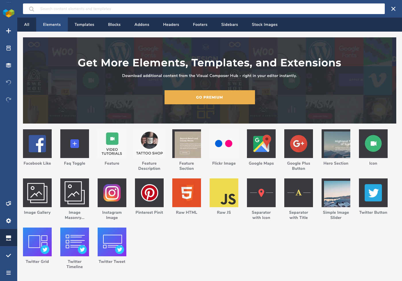 Visual Composer Site Builder - Get More Elements, Templates, and Extensions