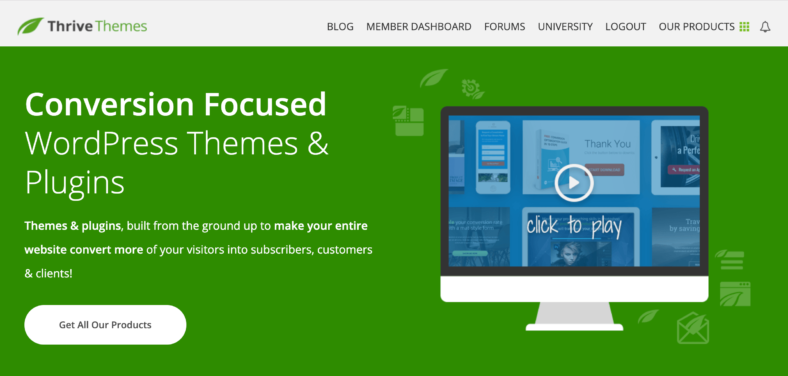 Thrive Themes Conversion Focused WordPress Themes and Plugins