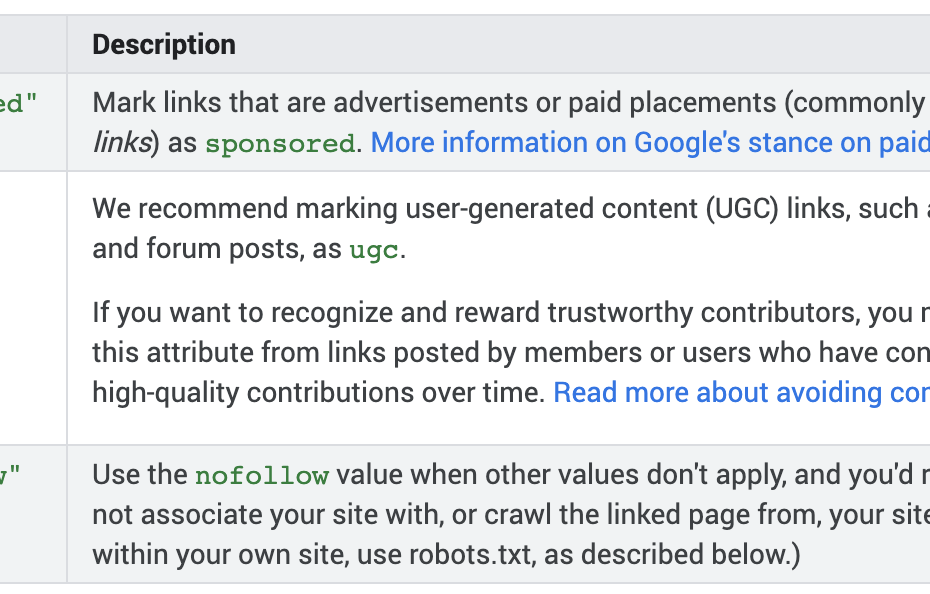 How To Qualify your outbound links to Google