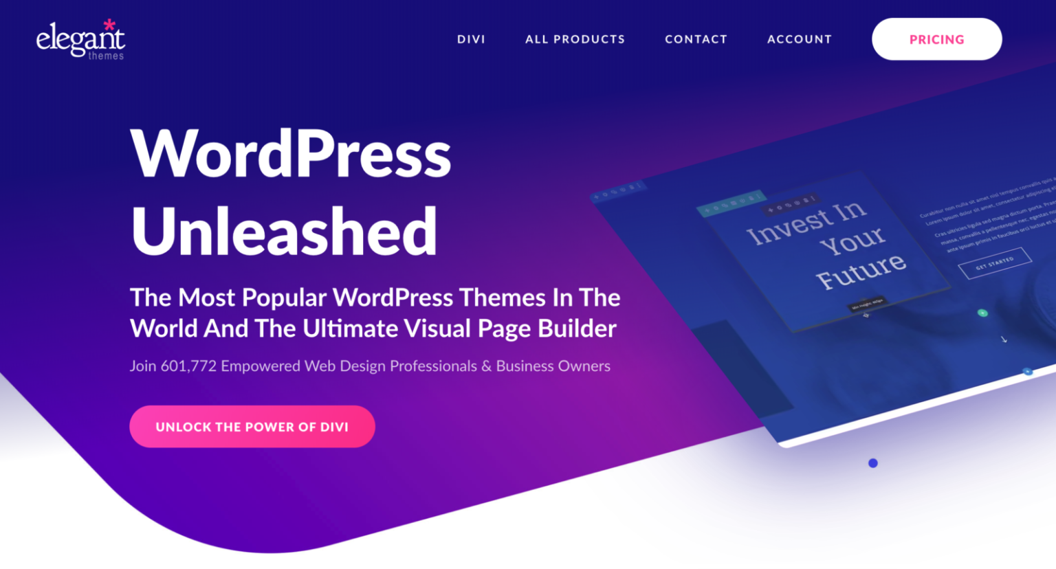 WordPress Unleashed - The Most Popular WordPress Themes In The World And the Ultimate Visual Page Builder