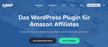 Das WordPress Plugin für Amazon Affiliates