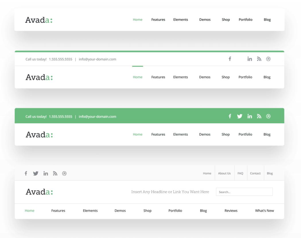 avada headers Avada Theme auf Deutsch – das Top WordPress-Theme kaufen