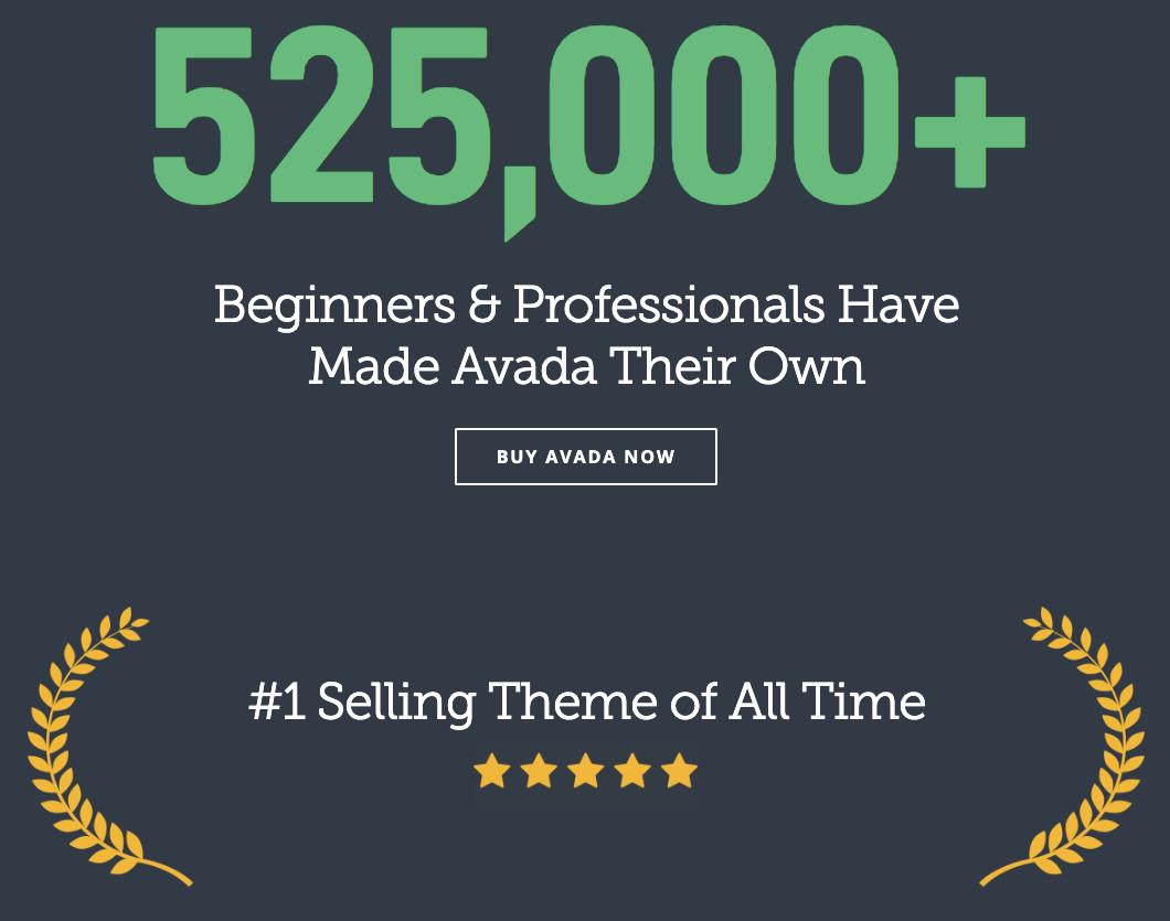 Avada ist das beliebteste WordPress-Theme auf Themeforest