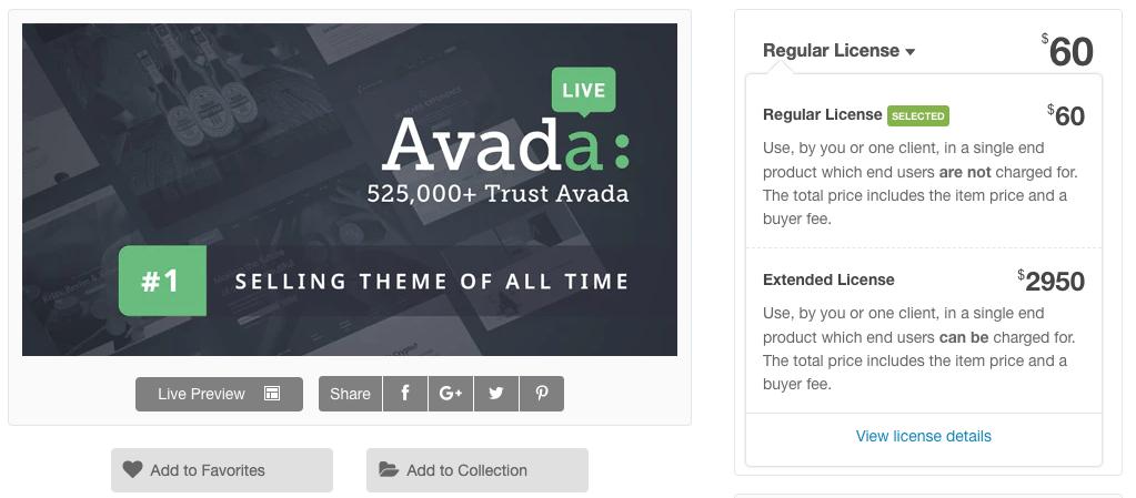 avada pricing 2 Avada Theme auf Deutsch – das Top WordPress-Theme kaufen