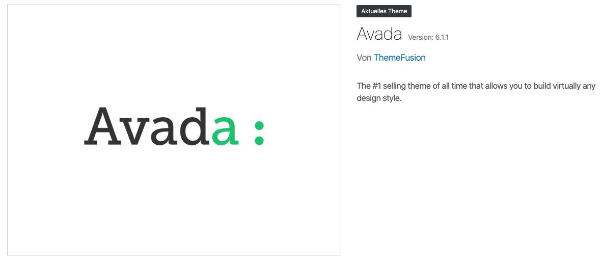 Getestet haben wir die Avada Version 6.1.1