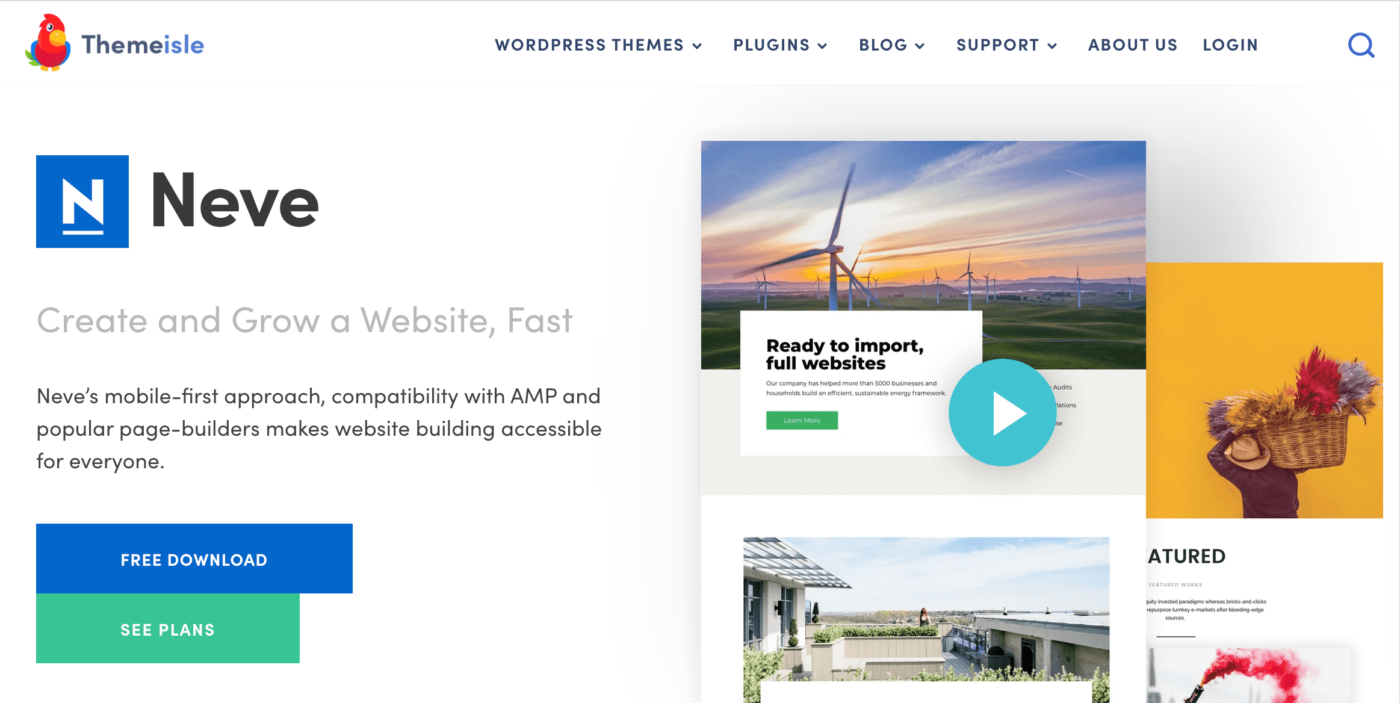 Neve - Create and Grow a Website, Fast