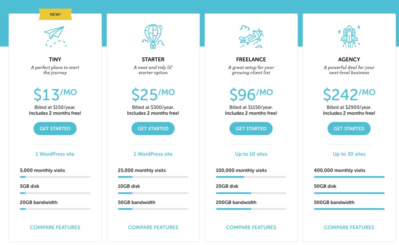 Flywheel WordPress Hosting Tarife Neu e1579628041827 Wer bietet das beste WordPress-Hosting? Die wichtigsten Hoster im Vergleich