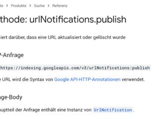 google indexing api Indexierung per Indexing API nur noch für JobPosting oder BroadcastEvent