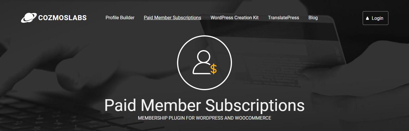 Paid Member Subscriptions Die besten Membership-Plugins 2021 für Mitgliederbereiche mit WordPress