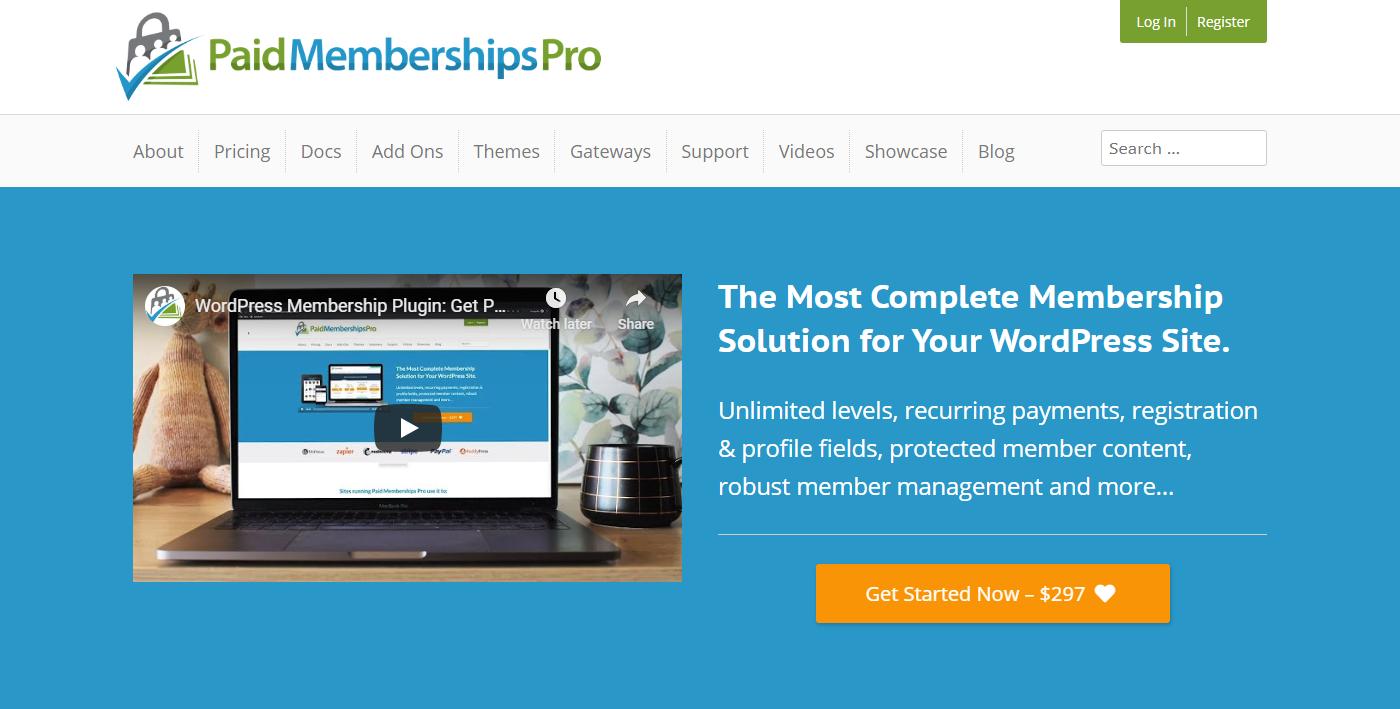 PaidMembershipsPro Die besten Membership-Plugins 2021 für Mitgliederbereiche mit WordPress