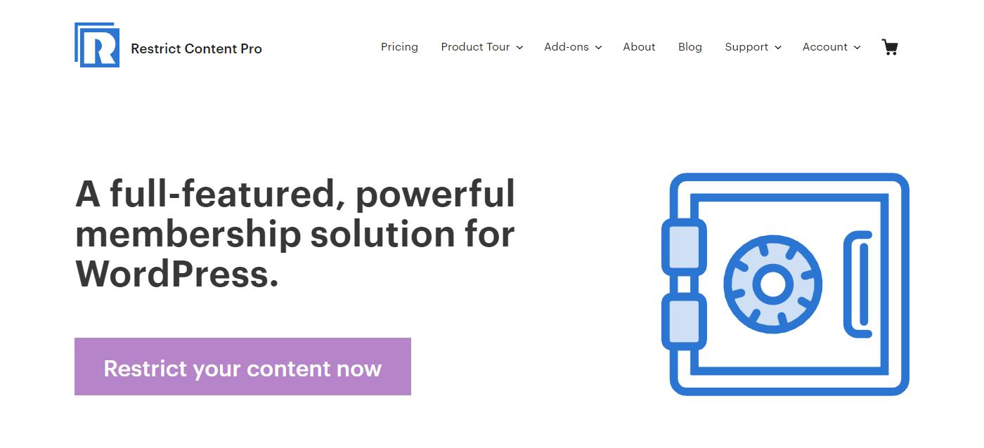 Restrict Content Pro Die besten Membership-Plugins 2021 für Mitgliederbereiche mit WordPress