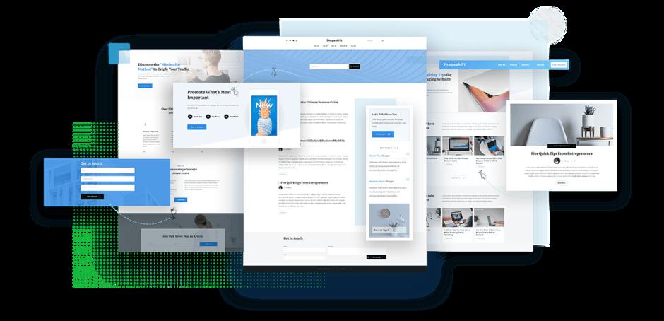 Shapeshift - Das neue Thrive Theme mit integriertem Front-End-Editor!