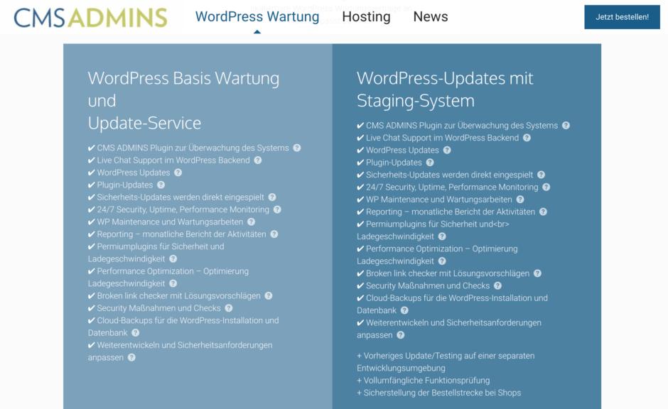 CMS ADMINS - Premium WordPress Wartung aus München