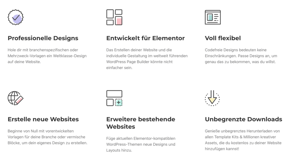 Elementor Template-Kits bei Envato Elements