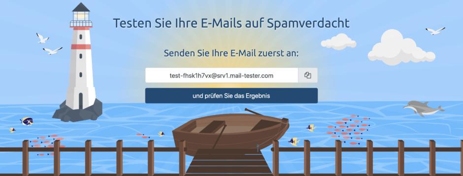 Testen Sie Ihre E-Mails auf Spamverdacht!