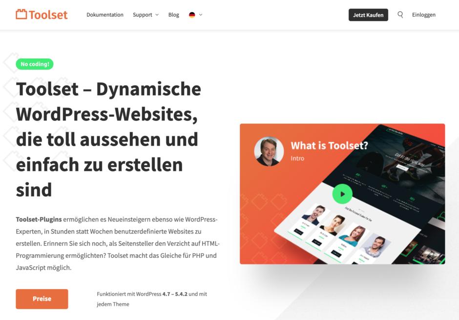 Toolset – Dynamische WordPress-Websites, die toll aussehen und einfach zu erstellen sind