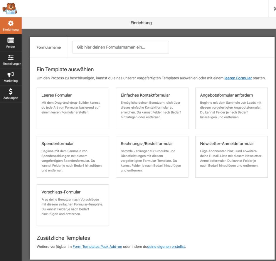 wp forms create new form So erstellst Du ein Mehrseitiges Formular mit Datenübergabe in WordPress