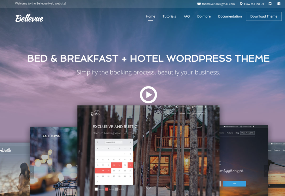 BED & BREAKFAST + HOTEL WORDPRESS THEME