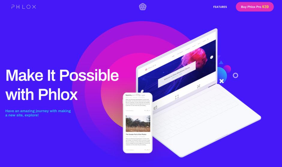 Phlox - Einfach schöne Designs. Das meistverkaufte Elementor-Theme auf Themeforest!