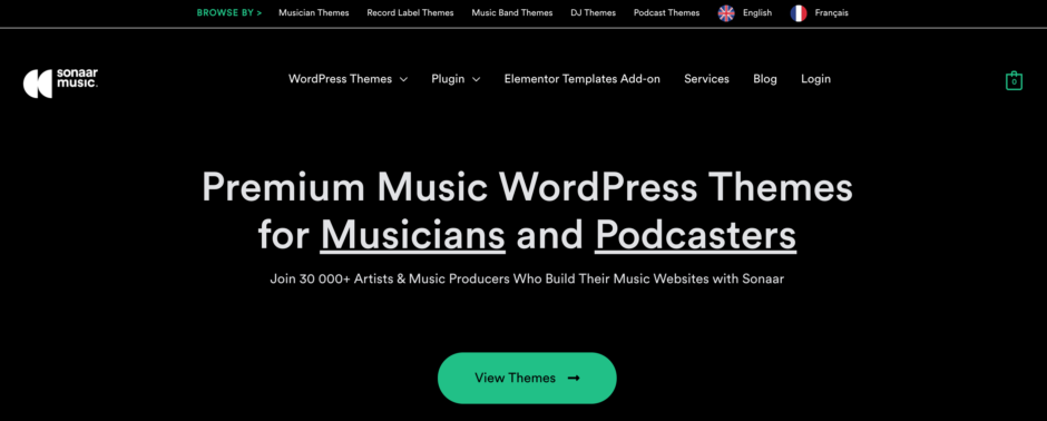 Premium Music WordPress Themes for Musicians and Podcasters