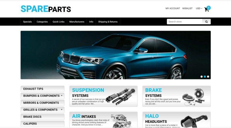SPAREPARTS Website