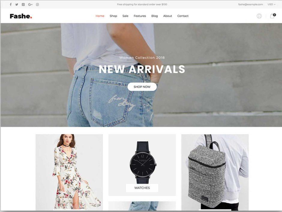 Shopify Theme Fashe
