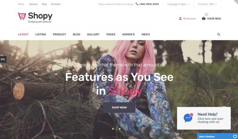 Shopy Website