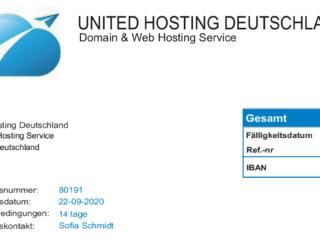 united hosting deutschland 1 Vorsicht Betrug! United Hosting Deutschland