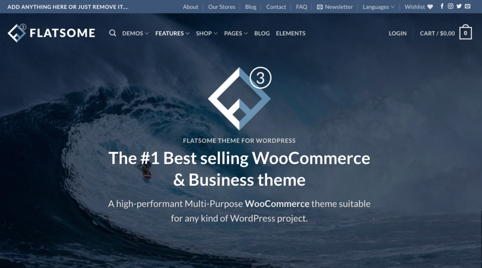 FLATSOME - The #1 Best selling WooCommerce & Business theme