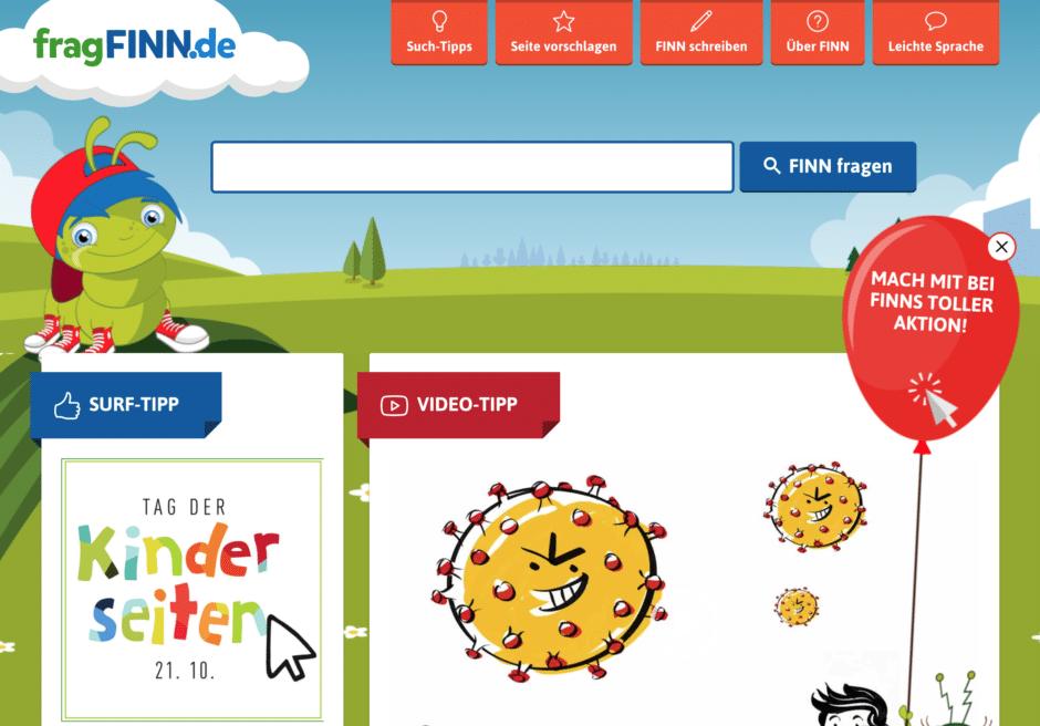 frag finn Sicher im Netz: Die besten Suchmaschinen für Kinder