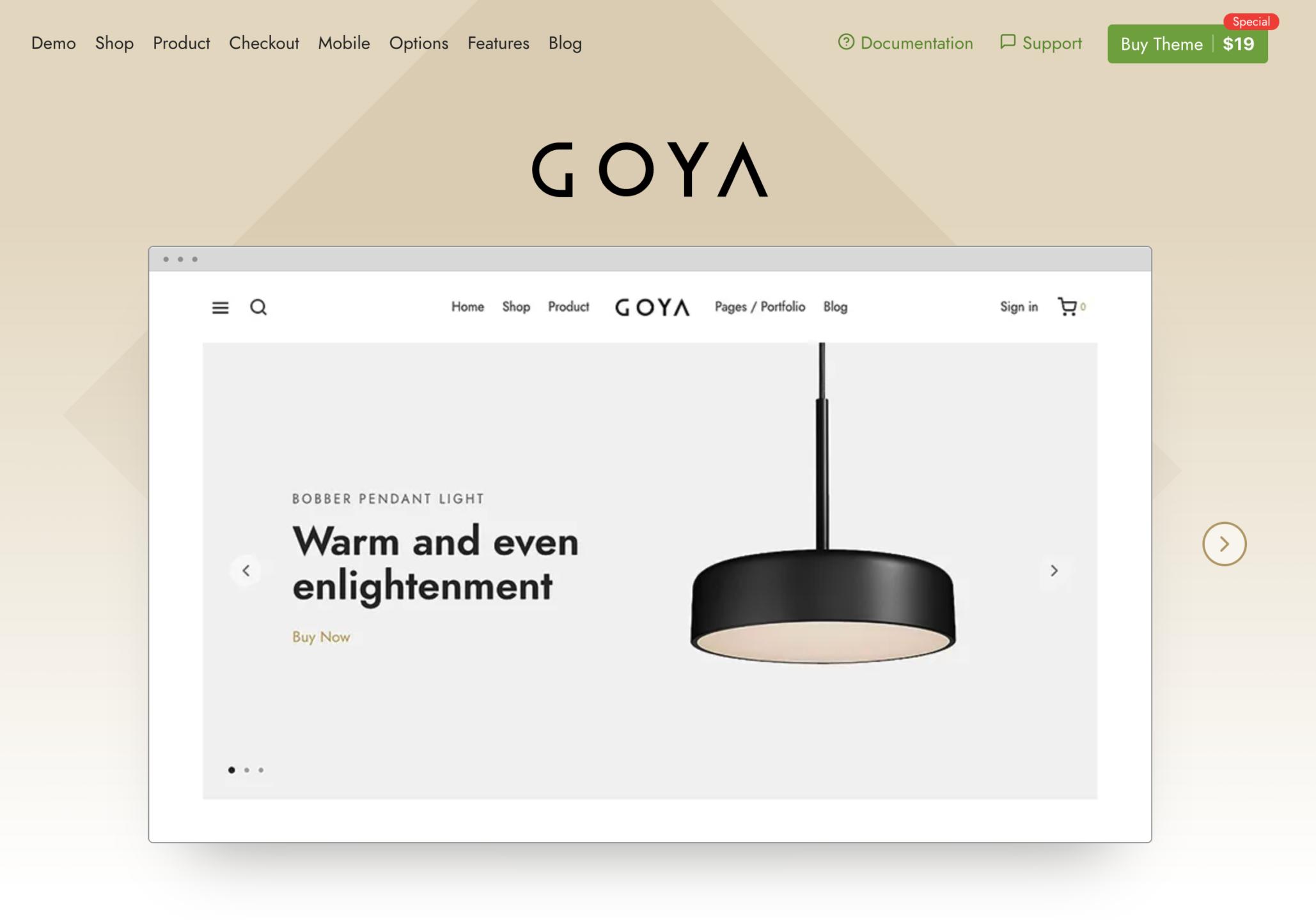 Goya WooCommerce Theme