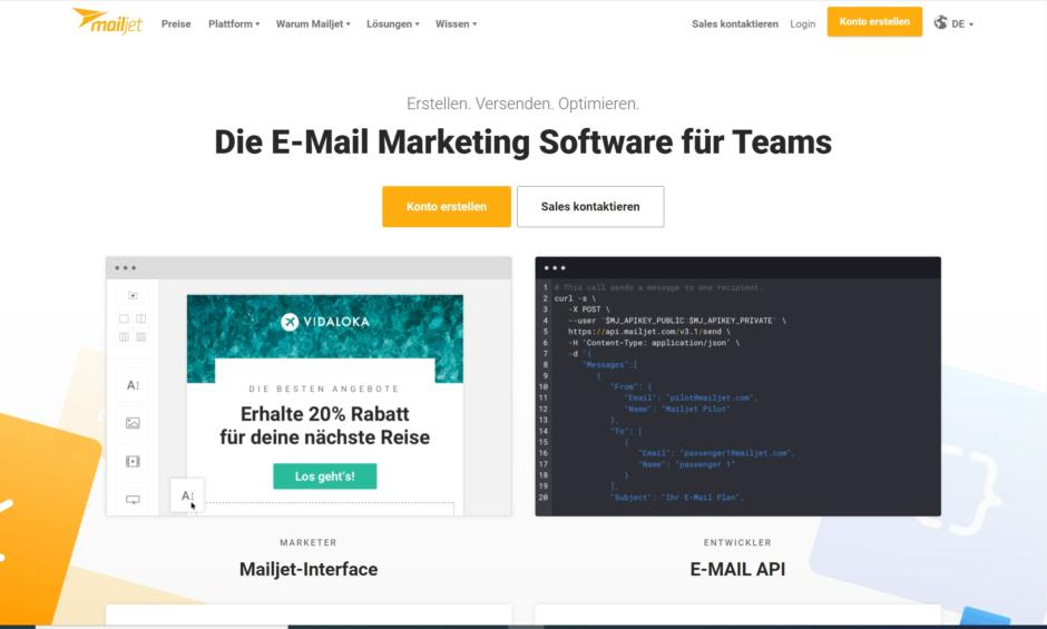 Newsletter-Tool Mailjet