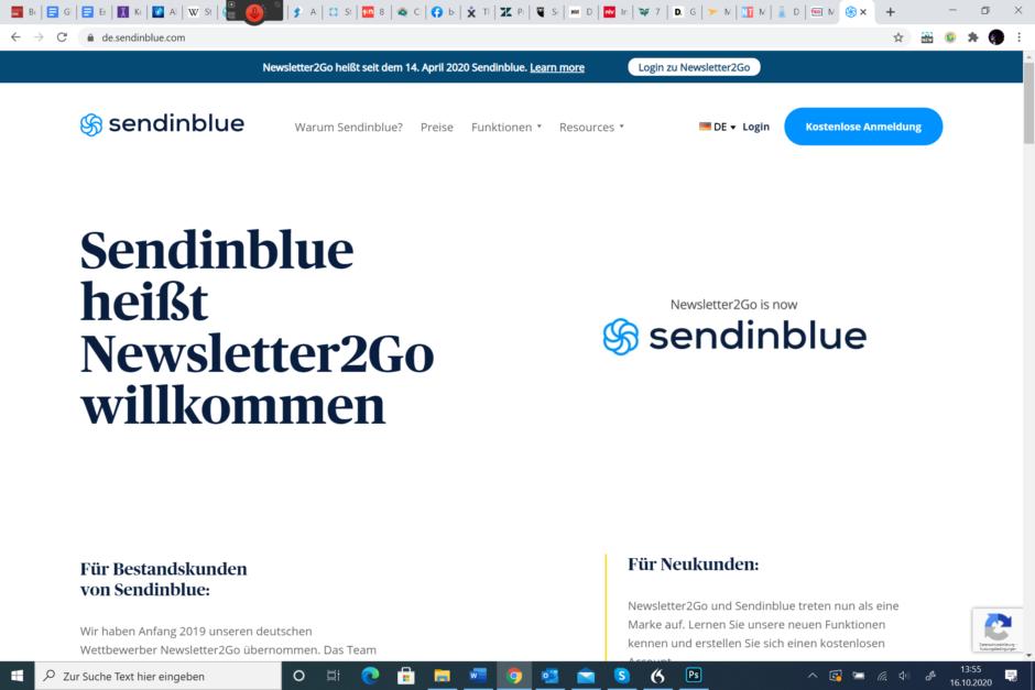 Newsletter-Tool Sendinblue