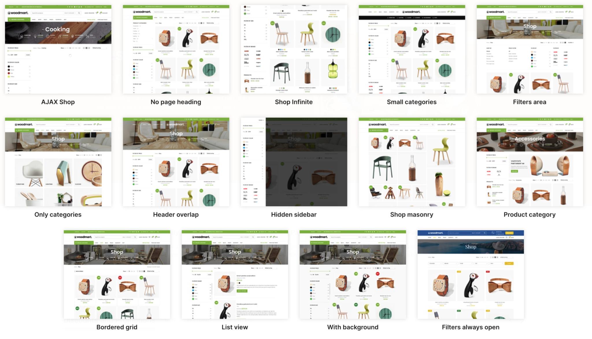 WoodMart WooCommerce Theme Demos