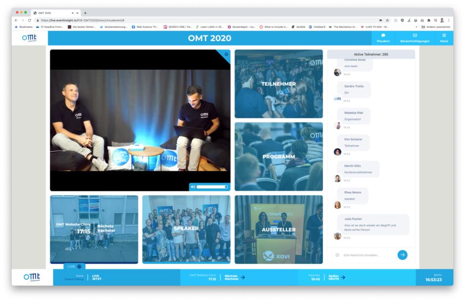 OMT Lobby So gut kann eine virtuelle Konferenz sein?! Mein OMT 2020 Recap