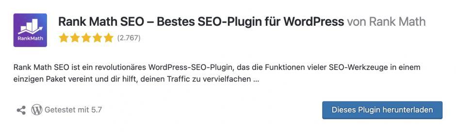 RankMath Meine Lieblings-WordPress-Plugins