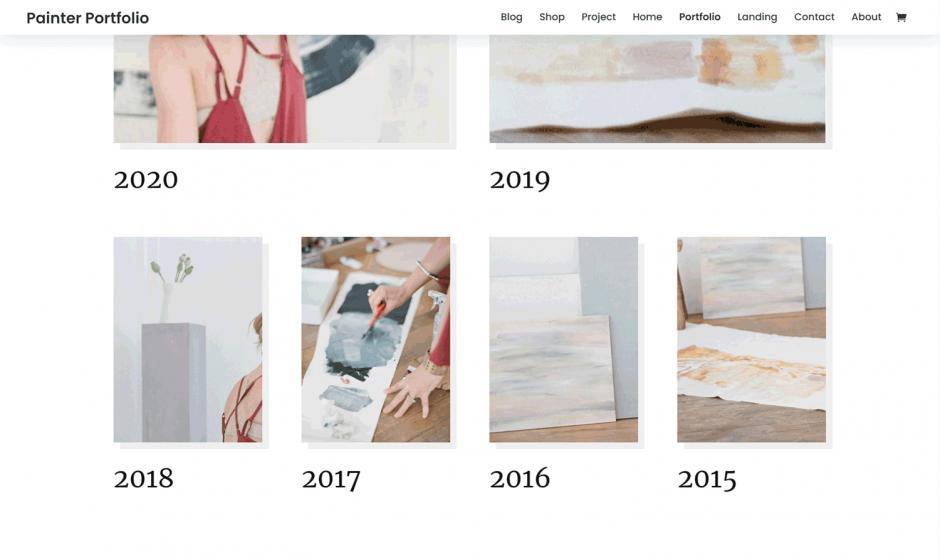 Divi Painter Portfolio Page